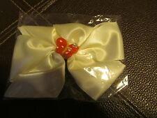Butterfly White Hair Bow  (Handmade)
