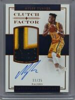 2016-17 National Treasures Myles Turner 3-Color Patch On Card Auto 11/25