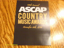 ASCAP 49th Anniversary Country Music Awards Invitation 2011 Honors Don Williams