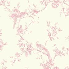 ARTHOUSE CHINOISE CREAM FLORAL PINK BIRDS OPERA HEAVYWEIGHT WALLPAPER 422802