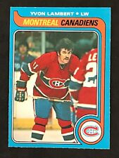 1979-80 OPC O-PEE-CHEE HOCKEY YVON LAMBERT CARD #24 MONTREAL CANADIENS NMT+