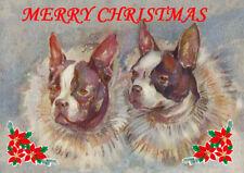 FRENCH BULLDOG SINGLE DOG PRINT GREETING CHRISTMAS CARD