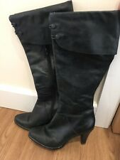 French Connection Leather Boots Size 5 Black Winter Spring Summer