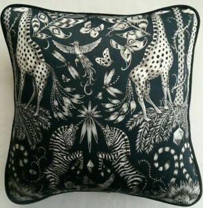 Emma J Shipley KRUGER NAVY cushion cover 41cm x 41cm (#2)