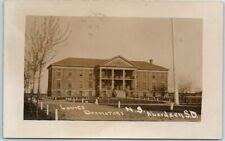 "Aberdeen South Dakota RPPC Photo Postcard Normal School ""Ladies Dormitory"" 1910s"
