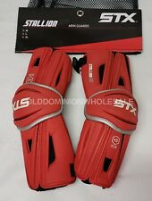 New Stx Stallion Hd High Def Polymer Red Sz: Large Lacrosse Arm Guards