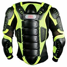 Perrini Motorcycle Full Body Armor Jacket protection gear Night Visibility S-4XL