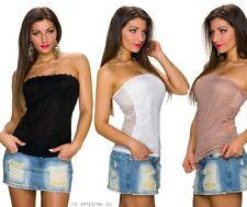 Damenblusen, - tops & -shirts mit Bandeau für Party in Größe 38