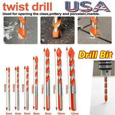 Ultimate Drill Bits 5/7Pcs 3~12Mm Multifunctional Ceramic Glass Hole Working Set