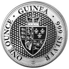 Spade Guinea St. Saint Helena 2019 East India 1 oz 999 Silbermünze Restrike