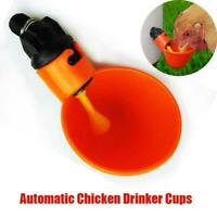 Bird Coop Feed Poultry Automatic Drink Water Cups Chicken Drinker Household N6J7