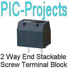 4 * 2 vías de terminal de tornillo PCB Conector extremo Apilable
