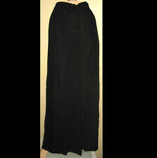 New & Tags BLACK Cutwork Embroidered Sarong Wrap Pants Sz M-L