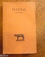 JUVENAL SATIRES  Belles lettres Bilingue 1921