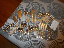 Vintage Mixed Lot of 24K Faberware Silverware Sets 3 Designs