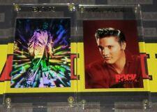 1991 & 1993 Rockstreet Elvis Presley Promo Cards in Special Gold Named Holders