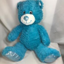 Animal Alley Toys R Us Blue Teddy Bear Plush W/ Sparkles Soft Stuffed Large 16""