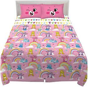 Care Bears Kids Bedding Super Soft Microfiber Sheet Set 4 Piece Full Size New