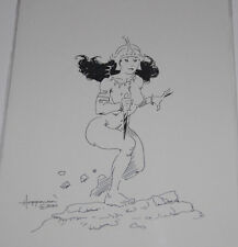 Lovely Mike Hoffman Warrior Goddess Nude Drawing 15 Years Old Original Comic Art