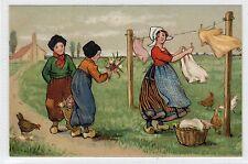Picture postcard of Dutch children by Ethel Parkinson (C23702)