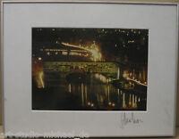 """Klaus Schreiber:""""Ansicht von Ponte Vecchio"""" Fotografie"""