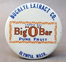 "c. 1910 Buckeye Extract BIG ""O"" BAR Candy Olympia WA  sharpening hone stone *"