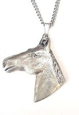 Horse Head Pendant Handcrafted in Solid Pewter In The UK + Free Gift Box PN09
