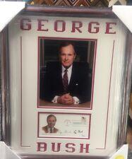 George HW Bush Signed Cachet Jsa Loa Custom Framed President