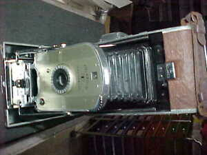 VINTAGE POLAROID 95 LAND CAMERA WITH BOX & PAPERS