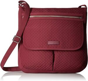 NEW Vera Bradley Microfiber 'Hawthorn Rose' Mailbag Crossbody Bag $108 Handbag
