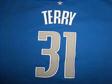 Adidas NBA Dallas Mavericks Basketball Jason Terry #31 Blue T Shirt - Youth XL