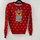 Terranova heart bear ugly Christmas Sweater sz S Small
