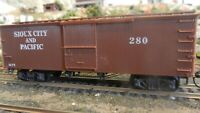 Roundhouse MDC HO Old Time 36' Boxcar Kit Sioux City & Pacific, Upgraded, Exc.
