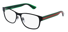 *NEW AUTHENTIC* GUCCI 0007O 002 BLACK GREEN EYEGLASS FRAME SIZE 55mm