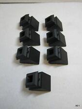 "Flat Black Custom Base Insert Angled Shoe 1/2"" Square Hole HP204/5 Pack of 7"
