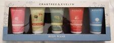 Crabtree & Evelyn 5 Piece Body Wash Gift Set (Gardener's Rose La Source)~NIB~!!!