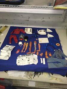 Steve Austin 6 Million Dollar Man bionic & Parts Lot Shoes Arms Legs, Denim Suit