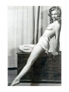 MARILYN MONROE  50s SEXY PIN UP NUDE EROTIC RISQUE POSE CANVAS POSTER NO FRAME