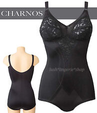 CHARNOS Panty Corselette  Non Wired Soft Cups 4612  Black  New Size  36D