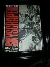 David Lee Roth Skyscraper Rare Original Promo Poster Ad Framed!