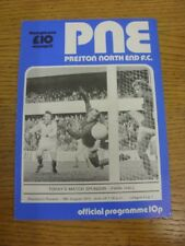 19/08/1975 Preston North End v Blackburn Rovers [Football League Cup] . If this