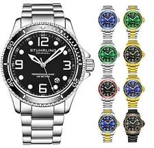 Stuhrling 3930 Men'S depthmaster aquadiver японские кварцевые 10 атм водолазные часы
