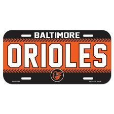 Baltimore Orioles MLB Wincraft Poly License Plate FREE SHIP