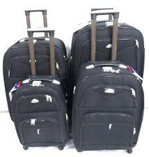 4 Wheel Spinner Expandable Set of 4 Lightweight Luggage Travel Trolley Cases UK