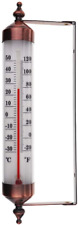 Outdoor Thermometer with Bronze Effect Design - Stylish Garden Thermometer For