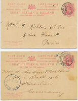 GB 1903, the UNIQUE PAIR scarce EVII postal stationery ADVERTSING DOUBLE CARDS