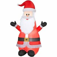 Gemmy Inflatable 6.99Ft Airblown Santa Outdoor Christmas Decor-w/LED White Light