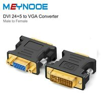 Dual Link DVI-I 24+5 Pin DVI I Male To VGA Female Connector Adapter Converter