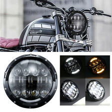 """7"""" 80W LED H4 Scheinwerfer Fern-Abblendlicht für Harley Road King Electra Suzuki"""