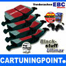 EBC Brake Pads Front Blackstuff for Ford Fiesta Courier 1 F3L, F5L DP1051